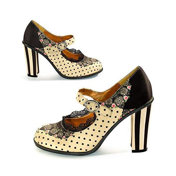 Hot Chocolate Design Chocolaticas High Heels Women's Mary Jane Pumps 4