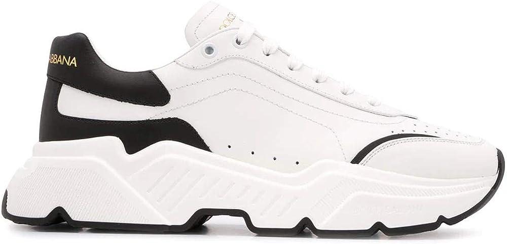 Dolce & gabbana luxury fashion sneakers per uomo in vera pelle CS1791AX58989697