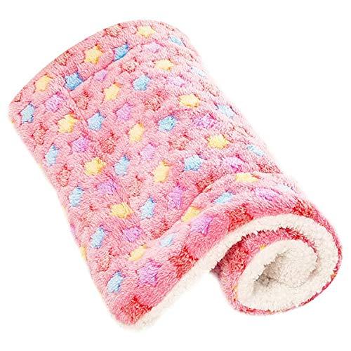 Hoylson Hundedecke Katzendecke flauschig und weich Schlafplatz Decke Waschbar kuscheldecke für Hund Katze Haustier Welpen (S, Rosa)