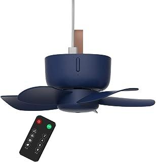 luosh Ventiladores de Techo, Temporizador de Control Remoto de 5V USB Ventilador de Techo Interior Ventilador de 4 velocidades para Cama Camping