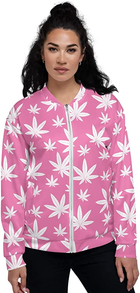 Weed Jackets Challenge the lowest price Cannabis Pink White Special price Leaf Flower Marijuana Unisex
