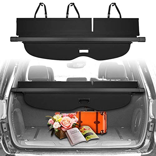 CUMART Cargo Cover Retractable Rear Trunk Security Shade Compatible with Jeep Grand Cherokee 2020 2019 2018 2017 2016 2015 2014 2013 2012 2011