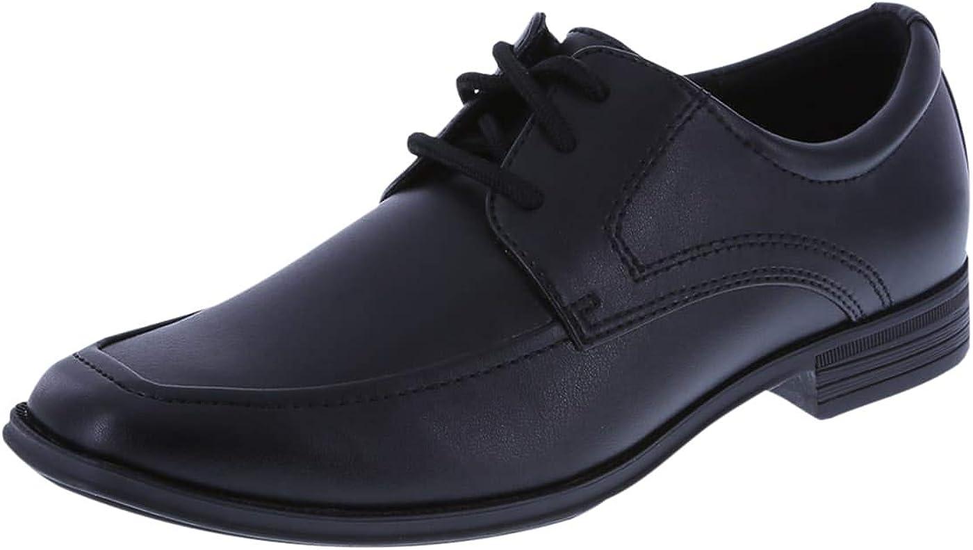 SmartFit Boys' Black Boys' Grant Oxford Dress Shoe