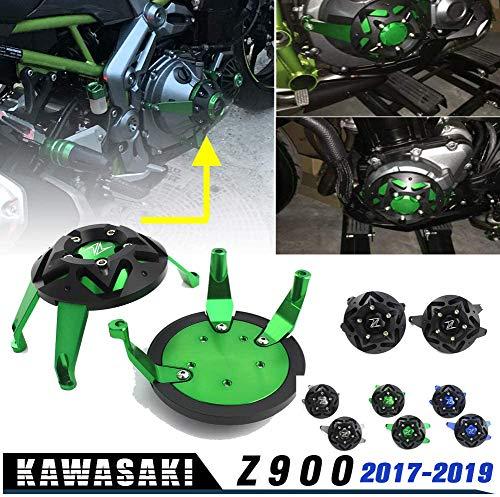Lorababer Z900 Motorräder Motoren Stator Sturzschutz Schutzhülle Motorabdeckung für Kawasaki Z 900 Z 900 2017 2018 2019(Schwarz)
