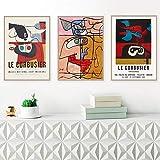 Französisch Le Corbusier Ausstellung Poster Vintage Wand
