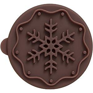 Birkmann Plätzchen-Stempel Snowflake, Holzgriff+Silikon, Ø 7 cm