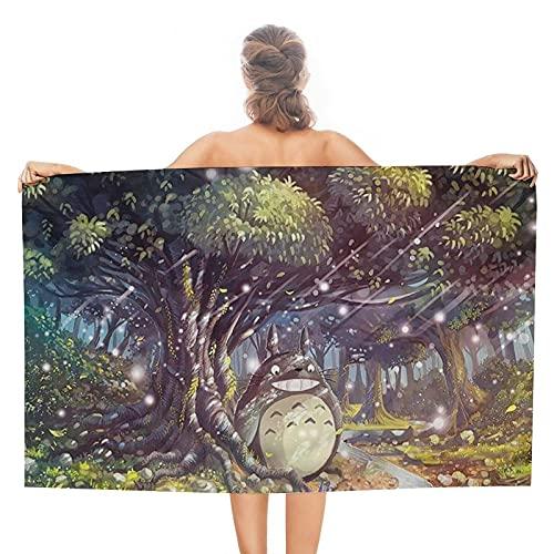 Neighbor Totoro - Toallas de baño unisex de lujo, toallas de playa suaves para piscina/nadar, toalla absorbente y ligera de doble cara
