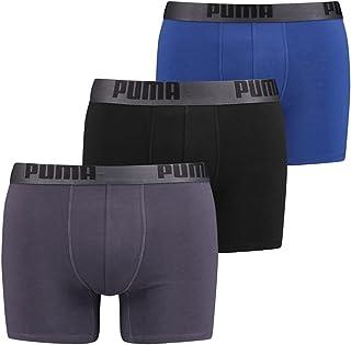 PUMA Men's 3 Pack Cotton Stretch Boxer Brief Underwear - X Large