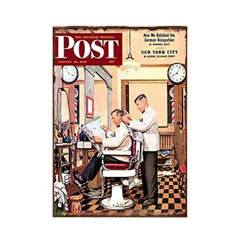Barbershop Time Soul Metall Blechschild Retro Metall gemalt Kunst Poster Dekoration Plaque Warnung Bar Cafe Garage Party Game Room Hauptdekoration