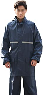 Snow Rainwear Cycling Raincoat Rain Pants Suit Reflective Oxford Cloth Split Raincoat With Concealed Rain Cap Multifunctio...