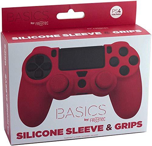 FR·TEC - Protector De Silicona + Grips - Color Rojo PS4