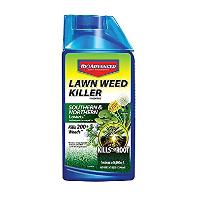 BioAdvanced 705100A Concentrate Root Killer for Southern and Northern Lawn Weeds, 32-Ounce