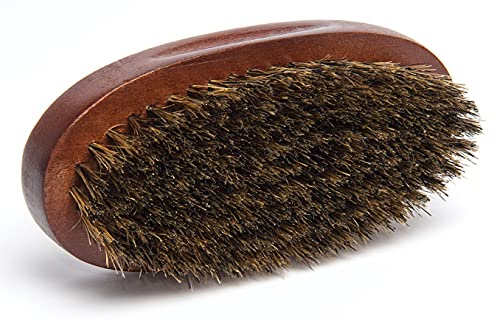 Diane Premium 100% Boar Bristle Brush for Men – Medium Firm Bristles for Medium to Coarse Hair – Use for Smoothing, Styling, Wave Styles, Soft on Scalp, D8114