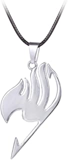 Collier croix grise double face Fairy Tail Alliage de zinc