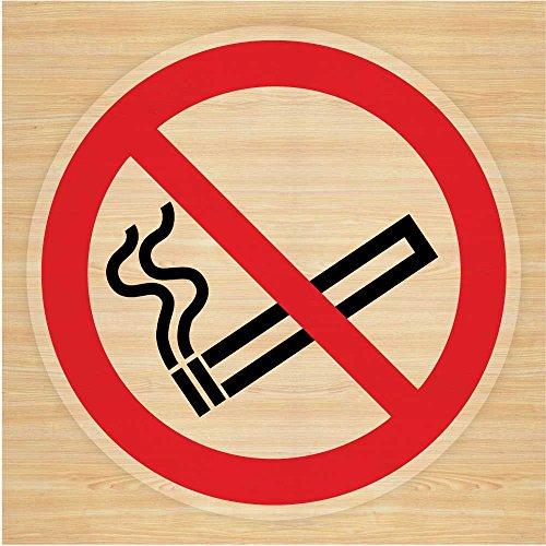 Stika.co 2 Autocollants Défense de fumer (75 mm) En vinyle Pour fenêtre de voiture, taxi ou bus
