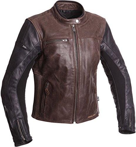 Segura Motorradjacke mit Protektoren Motorrad Jacke Nova Damen Lederjacke schwarz/braun 36, Chopper/Cruiser, Ganzjährig