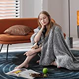 Bedsure Fleece Sherpa Throw Blanket - Super Fuzzy and Soft Throw Blanket for Couch, Lightweight Warm Blanket for All Seasons, 2 Tone Ombre Gradient Grey (Throw Size, 50x60 inches)