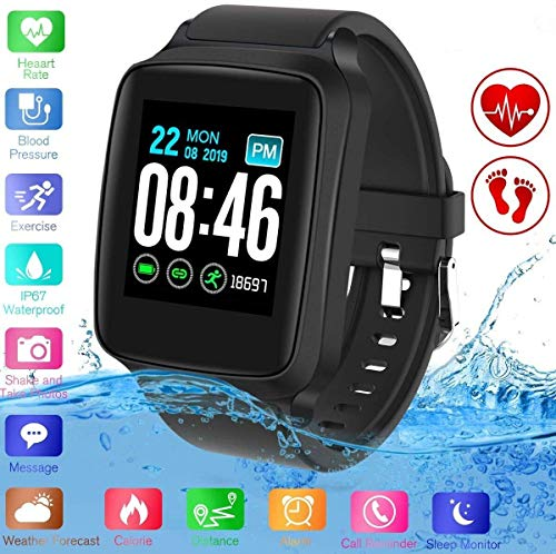 YUFENGGF Fitness Tracker,Activity Tracker Smart Watch with Heart Rate Monitor Touchscreen,Waterproof Bluetooth Smartwatch Sport Fitness Activity Tracker Watch Compatible with Android… (M8-Black)