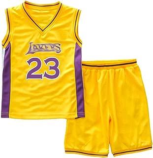 CRAZY GOTEND Little Boys Basketball Jersey 2-Piece Basketball Tank Top Shorts Set