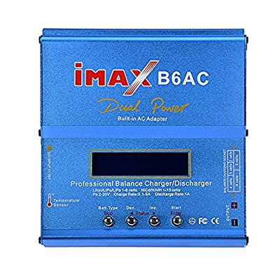 ECLEAR IMAX B6 80W Lipo Battery Balance Charger & Discharger For RC Quadcopter Car Model LiPo Lilon LiFe NiCd NiMh Batteries Charging Power Supply Adapter