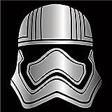 Cove Signs 145 Star Wars - Captain Phasma Die Cut Premium Vinyl Decal - Chrome 4'