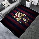 AMON LL AlfombrasColecciones de fútbol Alfombras, Cálido Moderno de Barcelona Impreso Multi Floor Mat,G,120×160cm