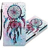 MRSTER Huawei Y6 Pro 2017 Handytasche, Leder Schutzhülle Brieftasche Hülle Flip Hülle 3D Muster Cover Stylish PU Tasche Schutzhülle Handyhüllen für Huawei P9 Lite Mini. YB Double Campanula