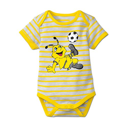 BVB Kinder Babybody Gestreift Emma, weiß/gelb, 74/80, 2466539