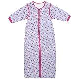 Jojo Maman Bébé–Saco de dormir para bebé, diseño estampado, color rosa, 18meses–4años