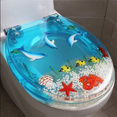 Lin-Yo Copriwater Sedile WC Universale,Antibatterici per WC Materiale in Resina,Cerniera Regolabile a Sgancio Rapido Coperchio del Sedile per WC Fisso Fisso di Alta qualità