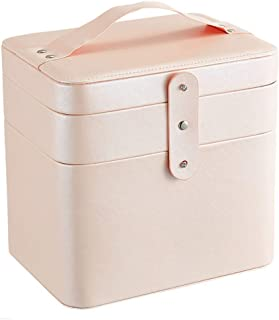 Yjdz Cosmetic Professional Cosmetic Case Double storage box partitions munsu nail tools Portable Beauty Cosmetic Box