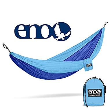 Eagles Nest Outfitters ENO DoubleNest Hammock, Portable Hammock for Two, Powder Blue/Royal (FFP)