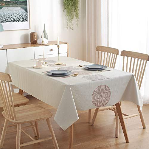 GuKKK Mantel Antimanchas 140x200 cm, PVC Mantel Cuadrado, Impermeable Lavable Manteles, Prueba de Aceite Manteles para Bodas Fiesta Buffet Navidad Cumpleaños Restaurante