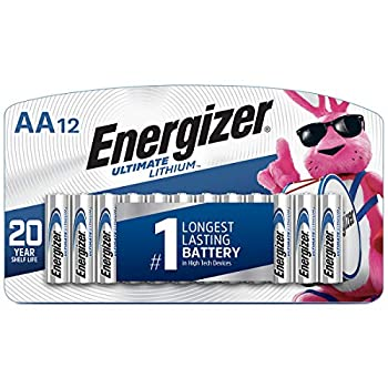 Energizer AA Lithium Batteries World s Longest Lasting Double A Battery Ultimate Lithium  12 Battery Count
