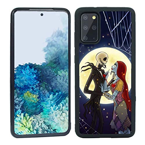 LILIN Galaxy S20 Plus Case,The Nightmare Before Christmas Antiskid Handle Black Phone Case Cover for Samsung Galaxy S20+ S20 Plus 6.7 inch