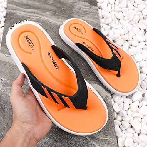 Anlemi Zapatos de Playa Piscina Unisex Adulto,Chanclas para Hombre,Zapatillas Personalizadas Antideslizantes y desodorantes-Naranja B_43,Ultraligero cómodo y Antideslizante