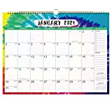 2021-2022 Calendar - 18 Monthly Wall Calendar with Thick Paper, 14.6' x 11.5', Spiral Twin-Wire Binding, Large Blocks with Julian Dates, Perfect for Planning & Organizing for Home or Office