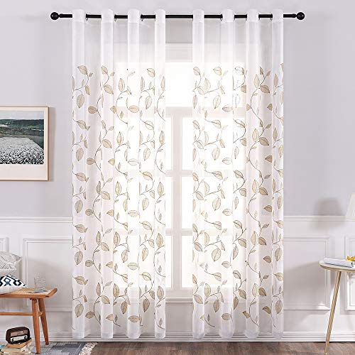European-Style Modern And Simple Wind Window Screen Curtains Polyester Quick-Drying Bedroom And Living Room Curtains Furniture Supplies Wall Decoration Curtains (2 Pieces)