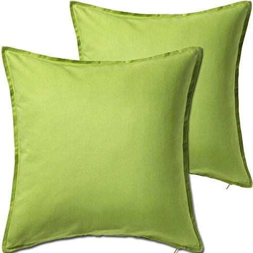 BHG 2 Pack Solid Light Green overseas Cushion Throw Cov cheap Pillow Decorative