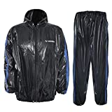 N NOOONFIX Sauna Suit for Men & Women, Sweat Jacket for Weight Loss Anti-Rip, Gym Workout Fitness Exercise Suit with Hood, XL