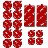 3M Sticky Adhesive Replacement for Magnetic Dashboard Pop Out-Stand Mount Base Circle Double Sided Tape 2 Pack Rectangle VHB Sticker Pads for Dash Magnet Phone Mounts Sockets (Red)