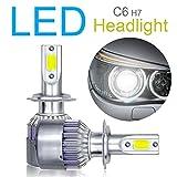Kit de conversión de bombillas LED H7 para faros delanteros, chips COB avanzados, luces de cruce/luces antiniebla, 10800 lm, 6000 K, 120 W, blanco superbrillante