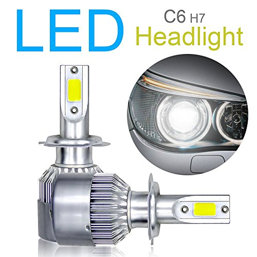 Kit de 2 x convertisseurs d'ampoules LED H7, puces COB rayon fort/faible/brouillard 10800LM 6000K 120W blanc super brillant