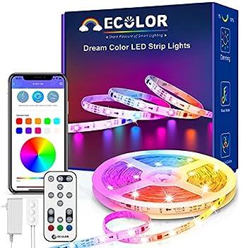 ECOLOR Smart Waterproof Dream Color LED Strip Lights