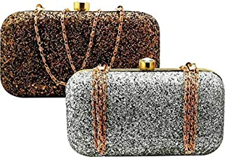 WAY OF LIFESTYLE WOMEN/GIRLS HAND CLUTCH PARTY,CASUAL,FORMAL,EVENTS,TRAVELING (BROWN,BLACK)