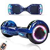 RangerBoard Hoverboard Enfant - 6,5' - Bluetooth - LED - Self Balancing Board Adulte - 700W - Smart Scooter Deux Roues - Skate Électrique Cadeaux Pas Cher - Certifié CE UL2272 - Bleu Ciel Étoilé