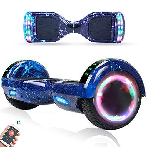 """RangerBoard Hoverboard Enfant - 6,5"""" - Bluetooth - LED - Self Balancing Board Adulte - 700W - Smart Scooter Deux Roues - Skate Électrique Cadeaux Pas Cher - Certifié CE UL2272 - Bleu Ciel Étoilé"""
