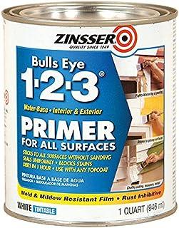 Rust-Oleum 2004 Zinsser Bulls Eye 1-2-3 Primer، 1 Quart، 946 ml، White