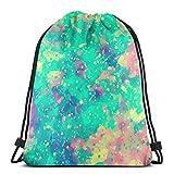 Ópalo de piedras preciosas abstractas de moda mochila mochila perezoso deporte gimnasio saco impermeable hombres mujeres Cinch bolsa para viajes Yoga playa escuela