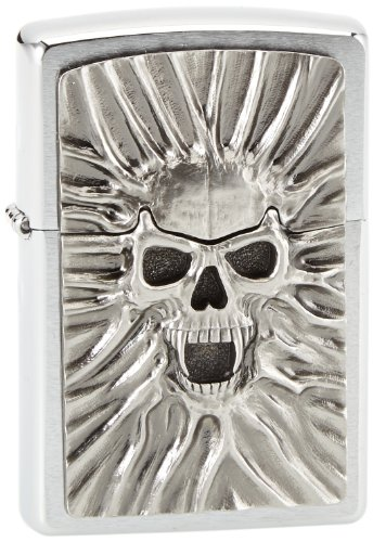 Zippo Zippo Feuerzeug 1300120 Scream of Sand Emblem Benzinfeuerzeug, Messing